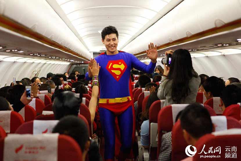 昆明飞往深圳的航班上
