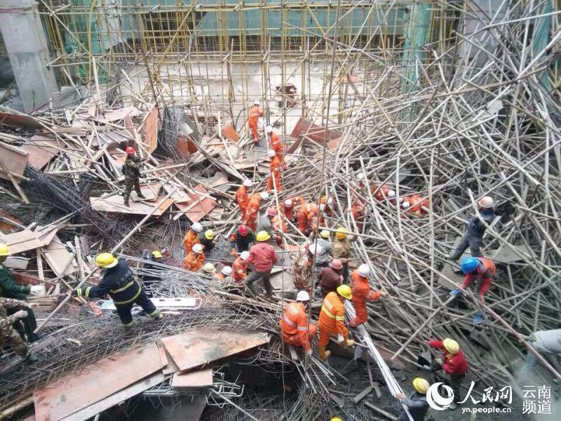 云南文山州职教园区发生垮塌事故 7人遇难8人