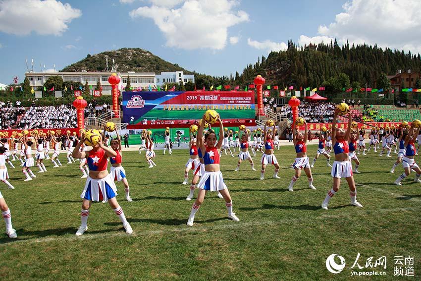 泸西:云南唯一校园足球试点县 5年后所有完小