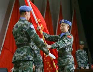 中国第十七批赴黎巴嫩维和部队出征在即