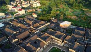 航拍江西九江千年古村 23栋古建筑鳞次栉比