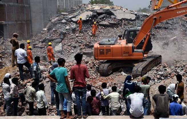 印度楼房倒塌事故死亡人数升至9人